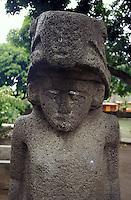 Anthropomorphic pre Columbian stone carving in Altagracia, Isla de Ometepe, Nicaragua