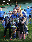 John McKenna with Georgina, Keelan and Ava-Rose celebrate Colmcilles V Dunderry,  Meath Intermediate Final Replay at P&aacute;irc Tailteann, Navan.<br /> <br /> <br /> Photo - Jenny Matthews