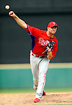 9 March 2011: Philadelphia Phillies' pitcher Ryan Madson on the mound during a Spring Training game against the Detroit Tigers at Joker Marchant Stadium in Lakeland, Florida. The Phillies defeated the Tigers 5-3 in Grapefruit League play. Mandatory Credit: Ed Wolfstein Photo