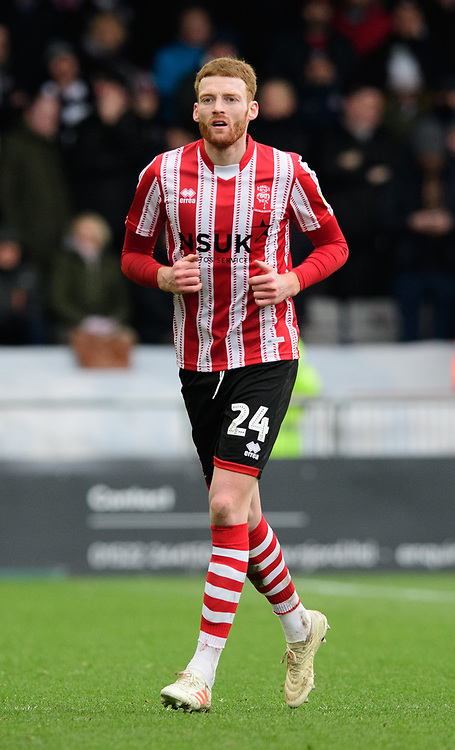 Lincoln City's Cian Bolger<br /> <br /> Photographer Chris Vaughan/CameraSport<br /> <br /> The EFL Sky Bet League Two - Lincoln City v Grimsby Town - Saturday 19 January 2019 - Sincil Bank - Lincoln<br /> <br /> World Copyright &copy; 2019 CameraSport. All rights reserved. 43 Linden Ave. Countesthorpe. Leicester. England. LE8 5PG - Tel: +44 (0) 116 277 4147 - admin@camerasport.com - www.camerasport.com