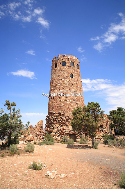 The Watchtower on the South Rim of the Grand Canyon, Grand Canyon National Park, Arizona, USA