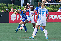 Allston, MA - Saturday August 19, 2017: Rosie White, Chioma Ubogagu during a regular season National Women's Soccer League (NWSL) match between the Boston Breakers and the Orlando Pride at Jordan Field.