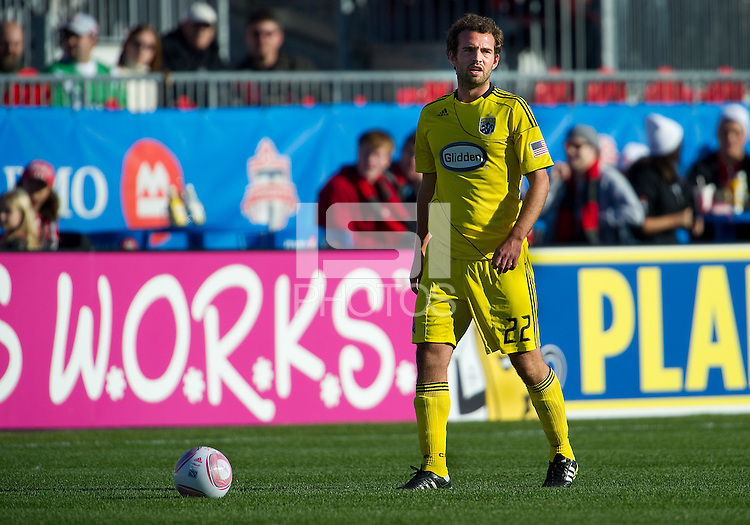 October 16 2010  Columbus Crew midfielder Adam Moffat #22 in action during a game between the Columbus Crew and Toronto FC at BMO Field in Toronto..The final score was a 2-2 draw.