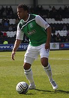 Thomas Soares in the St Mirren v Hibernian Clydesdale Bank Scottish Premier League match played at St Mirren Park, Paisley on 29.4.12.