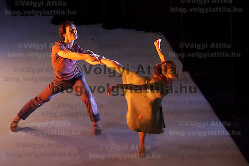 The Miraculous Mandarin is a ballet piece by Hungarian Ballet Theatre from Godollo. Solo danced by Popova Aleszja. Budapest, Hungary. Saturday, 24. November 2007. ATTILA VOLGYI
