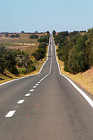 a straight road alentejo portugal