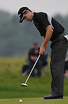 Scott Strange putts on the 2nd green. Celtic Manor Wales Open 2008 © IJC Photography 2008, iancook@ijcphotography.co.uk..