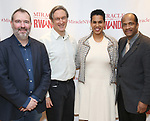 """John Breen, George Drance, Leslie Malaika Lewis and Allen DeWane during a reception for  """"Miracle in Rwanda"""" honoring International Day of Reflection on the 1994 Genocide against the Tutsi in Rwanda at the Lion Theatre on Theater Row on April 7, 2019 in New York City."""