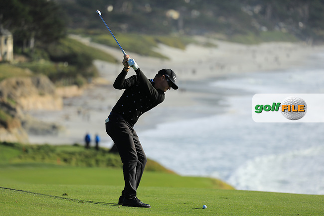 Brian Gay (USA) during the final round of the AT&amp;T Pro-Am, Pebble Beach Golf Links, Monterey, USA. 10/02/2019<br /> Picture: Golffile | Phil Inglis<br /> <br /> <br /> All photo usage must carry mandatory copyright credit (&copy; Golffile | Phil Inglis)
