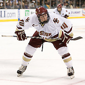 Matt Greene (Boston College - Plymouth, MA) - The Boston College Eagles defeated the Harvard University Crimson 3-1 in the first round of the 2007 Beanpot Tournament on Monday, February 5, 2007, at the TD Banknorth Garden in Boston, Massachusetts.  The first Beanpot Tournament was played in December 1952 with the scheduling moved to the first two Mondays of February in its sixth year.  The tournament is played between Boston College, Boston University, Harvard University and Northeastern University with the first round matchups alternating each year.