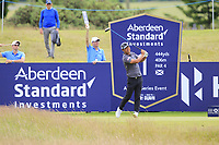 Hideto Tanihara (JPN) on the 11th during Round 2 of the Aberdeen Standard Investments Scottish Open 2019 at The Renaissance Club, North Berwick, Scotland on Friday 12th July 2019.<br /> Picture:  Thos Caffrey / Golffile<br /> <br /> All photos usage must carry mandatory copyright credit (© Golffile | Thos Caffrey)