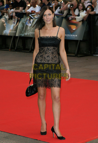 "LINZI STOPPARD.""Superman Returns"" UK film premiere, Odeon Leicester Square, London, UK..July 13th, 2006.ReF: AH.full length black lace dress .www.capitalpictures.com.sales@capitalpictures.com.© Capital Pictures."