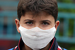 Palestinian man wears a protective masks as first cases of H1N1 flu infections have appeared, in Gaza City, 08 December 2009. According to the Health Ministery of the Hamas movement in Gaza, five people were infected by swine flu in Gaza City. Israel said Tuesday it is treating five suspected swine flu cases from Gaza in hopes of containing an outbreak of the virus in the blockaded Palestinian territory. Gaza health officials reported their first swine flu cases on Sunday. They say since then three people have died and nine others are hospitalized Photo by Wissam Nassar