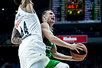 Real Madrid Jeffery Taylor and Kirolbet Baskonia Marcelinho Huertas during Turkish Airlines Euroleague match between Real Madrid and Kirolbet Baskonia at Wizink Center in Madrid, Spain. October 19, 2018. (ALTERPHOTOS/Borja B.Hojas)