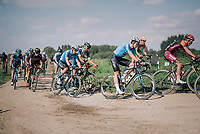 Wout Van Aert (BEL/Veranda's Willems-Crelan) in the peloton conquering the gravel sectors<br /> <br /> Antwerp Port Epic 2018 (formerly &quot;Schaal Sels&quot;)<br /> One Day Race:  Antwerp &gt; Antwerp (207 km; of which 32km are cobbles &amp; 30km is gravel/off-road!)