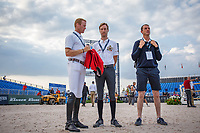 The course walk for the Second Competition - Round 1. FEI World Team and Individual Jumping Championship. 2018 FEI World Equestrian Games Tryon. Thursday 20 September. Copyright Photo: Libby Law Photography