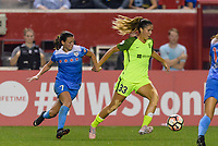 Bridgeview, IL - Wednesday August 16, 2017: Taylor Comeau, Katlyn Johnson during a regular season National Women's Soccer League (NWSL) match between the Chicago Red Stars and the Seattle Reign FC at Toyota Park. The Seattle Reign FC won 2-1.