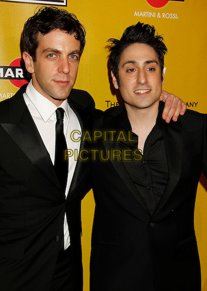 BJ NOVAK & OMAR DOOM.Weinstein Company Post Golden Globe Party held at Bar210 & Plush Ultra Lounge at the Beverly Hilton Hotel, Beverly Hills, California, USA..January 17th, 2009.globes half length black shirt suit jacket tie white shirt b.j..CAP/ADM/MJ.©Michael Jade/Admedia/Capital Pictures