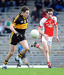 22-01-12:  Brian Looney, Dr Crokes, breaks away from James O'Sullivan,  Rathmore in the East Kerry O'Donoghue Cup final  in Fitzgerald Stadium, Killarney on Sunday. Picture: Eamonn Keogh ( MacMonagle, Killarney)