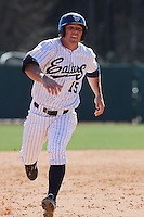 Dillon Bell of the University of California at Irvine running to 3rd base in a game against James Madison University at the Baseball at the Beach Tournament held at BB&T Coastal Field in Myrtle Beach, SC on February 28, 2010.