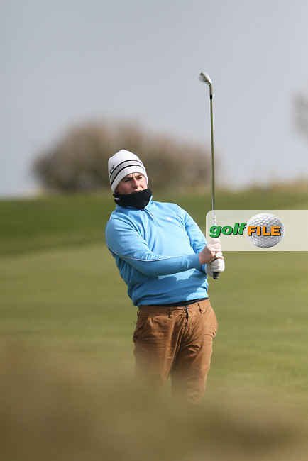 Gary Collins (Rosslare) on the 3rd during the Leinster Youths Amateur Open Championship in the European Club, Brittas Bay, Co.Wicklow. 27/3/13..(Photo Jenny Matthews/www.golffile.ie)