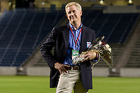 Chicago, IL - Saturday July 30, 2016: Arnim Whisler after a regular season National Women's Soccer League (NWSL) match between the Chicago Red Stars and FC Kansas City at Toyota Park.