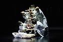 London, UK. 27.09.2015. Yabin Studio & Eastman/Sidi Larbi Cherkaoui presents GENESIS, at Sadler's Wells. The dancers are: Yabin Wang, Li Chao, Kazutomi Kozuki, Elias Lazaridis, Johnny Lloyd, Fang Yin, Qing Wang. The musicians are: Manjunath B Chandramouli, Barbara Drazkowska, Kaspy Kusosa Kuyubuka, Woojae Park. Photograph © Jane Hobson.