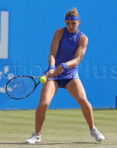 June 16th 2017, Nottingham, England;WTA Aegon Nottingham Open Tennis Tournament day 5;  Forehand from Lucie Safarova of Czech Republic who wins the first set against Tsvetana Pironkova of Bulgaria