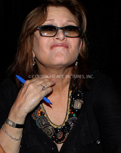 WWW.ACEPIXS.COM....October 13 2012, New York City....Carrie Fisher at the 2012 New York Comic Con at the Javits Center on October 13, 2012 in New York City....By Line: Nancy Rivera/ACE Pictures......ACE Pictures, Inc...tel: 646 769 0430..Email: info@acepixs.com..www.acepixs.com