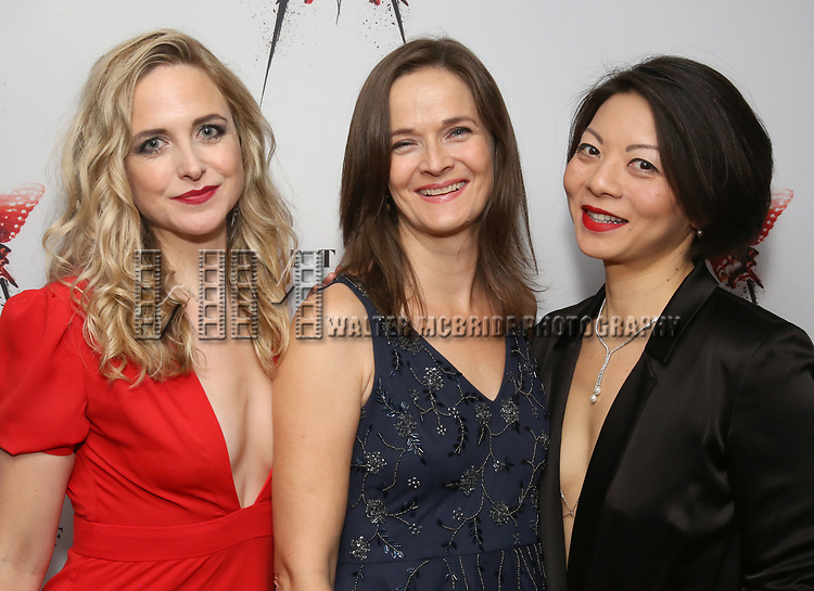 Clea Alsip, Enid Graham and Celeste Den attends the Broadway Opening Night After Party for 'M. Butterfly' on October 26, 2017 at Red Eye Grill in New York City.