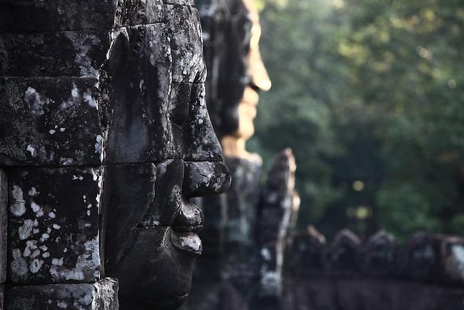 The ruins of Bayon at Angkor Thom, Cambodia. June 9, 2013.