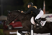 29th September 2017, Real Club de Polo de Barcelona, Barcelona, Spain; Longines FEI Nations Cup, Jumping Final; ROQUET PUIGNERO Laura (ESP)  riding Sandi Puigroq during the final of the Nations Cup