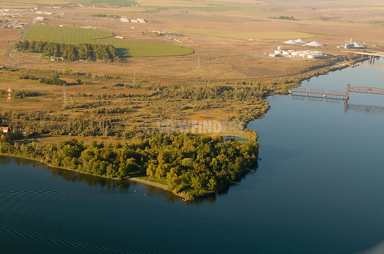 Aerial View of Sacajawea State Park in Pasco, Washington