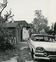 1968  May  15..Ghent      ..East Ghent North R-55.Garages on North side of 17th Street..Sam McKay.NEG# SLM68-39-45..