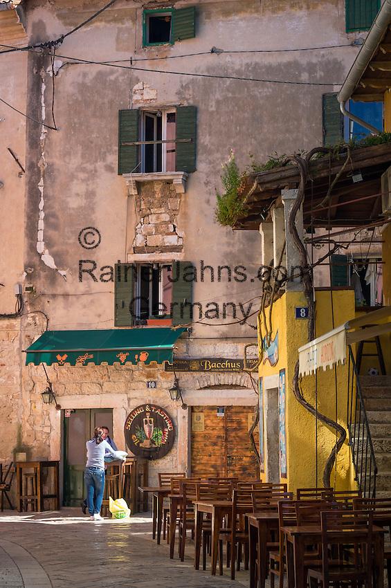 Croatia, Istria, Porec: old town lane | Kroatien, Istrien, Porec: Altstadtgasse