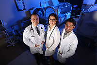 Jan. 25, 2018. Carlsbad. CA. USA | Left to right, Dr. Henry Showah, Dr Sharon Slowik, and Dr Gehaan D'Souza with Tri-City wound care. |Photos by Jamie Scott Lytle. Copyright.