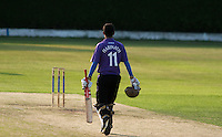 25 JUN 2009 - LOUGHBOROUGH,GBR - Arun Harinath (Loughborough UCCE) walks back to his crease for the next over in the match against Cambridge UCCE - UCCE Twenty 20 (PHOTO (C) NIGEL FARROW)