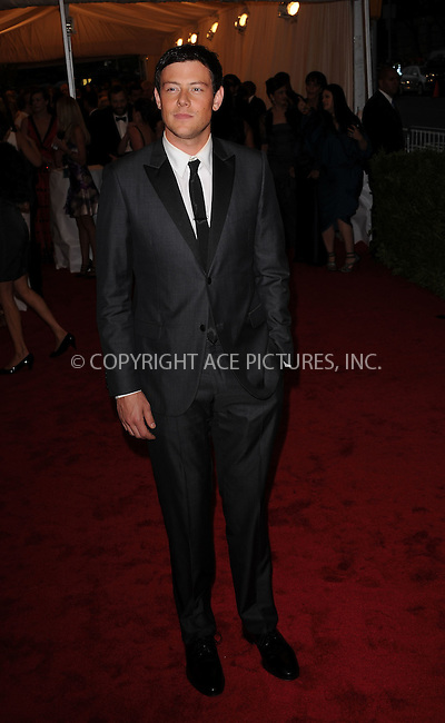 WWW.ACEPIXS.COM . . . . . ....May 7 2012, New York City....Cory Monteith arriving at the 'Schiaparelli And Prada: Impossible Conversations' Costume Institute Gala at the Metropolitan Museum of Art on May 7, 2012 in New York City.....Please byline: KRISTIN CALLAHAN - ACEPIXS.COM.. . . . . . ..Ace Pictures, Inc:  ..(212) 243-8787 or (646) 679 0430..e-mail: picturedesk@acepixs.com..web: http://www.acepixs.com