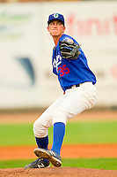 Ogden Raptors relief pitcher Derek Cone (35) in action against the Orem Owlz at Lindquist Field on July 29, 2012 in Ogden, Utah.  The Owlz defeated the Raptors 6-4.   (Brian Westerholt/Four Seam Images)