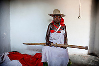 Rosa Paizone (45), a witchdoctor who, since 1987, has been possessed by the spirit of a dead Zimbabwean man called Chiange.