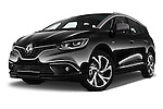 Stock pictures of low aggressive front three quarter view of 2017 Renault Grand-Scenic Bose-Edition 5 Door Minivan Low Aggressive