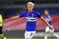 Morten Thorsby of UC Sampdoria reacts during the Serie A football match between AS Roma and UC Sampdoria at Olimpico stadium in Rome ( Italy ), June 24th, 2020. Play resumes behind closed doors following the outbreak of the coronavirus disease. AS Roma won 2-1 over UC Sampdoria. <br /> Photo Andrea Staccioli / Insidefoto