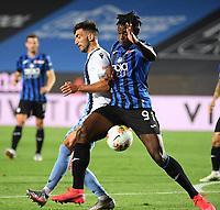 24th June 2020, Bergamo, Italy; Seria A football league, Atalanta versus Lazio;  Lazios Danilo Cataldi vies with Atalantas Duvan Zapata