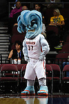 March 7, 2015; Las Vegas, NV, USA; Pepperdine Waves mascot performs against the San Diego Toreros during the first half of the WCC Basketball Championships at Orleans Arena.