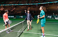 Rotterdam, The Netherlands, 14 Februari 2019, ABNAMRO World Tennis Tournament, Ahoy, Marton Fucsovics (HUN) Nikoloz Basilashvili (GEO),<br /> Photo: www.tennisimages.com/Henk Koster