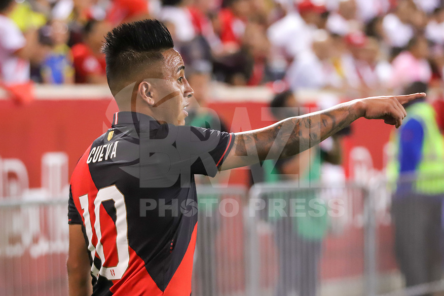 Harrison (EUA), 05/09/2019 - Amistoso Internacional - Peru x Equador -  Cueva do Peru durante partida contra o Equador amistoso internacional na Red Bull Arena em Harrison nos Estados Unidos nesta quinta-feira, 05.  (Foto: William Volcov/Brazil Photo Press)