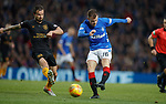 24.11.2018 Rangers v Livingston: Andy Halliday and Keaghan Jacobs