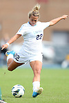 30 September 2012: UNC's Amber Brooks. The University of North Carolina Tar Heels defeated the University of Miami Hurricanes 6-1 at Fetzer Field in Chapel Hill, North Carolina in a 2012 NCAA Division I Women's Soccer game.