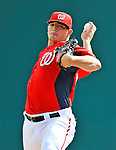4 March 2011: Washington Nationals pitcher Cole Kimball in action during a Spring Training game against the Atlanta Braves at Space Coast Stadium in Viera, Florida. The Braves defeated the Nationals 6-4 in Grapefruit League action. Mandatory Credit: Ed Wolfstein Photo