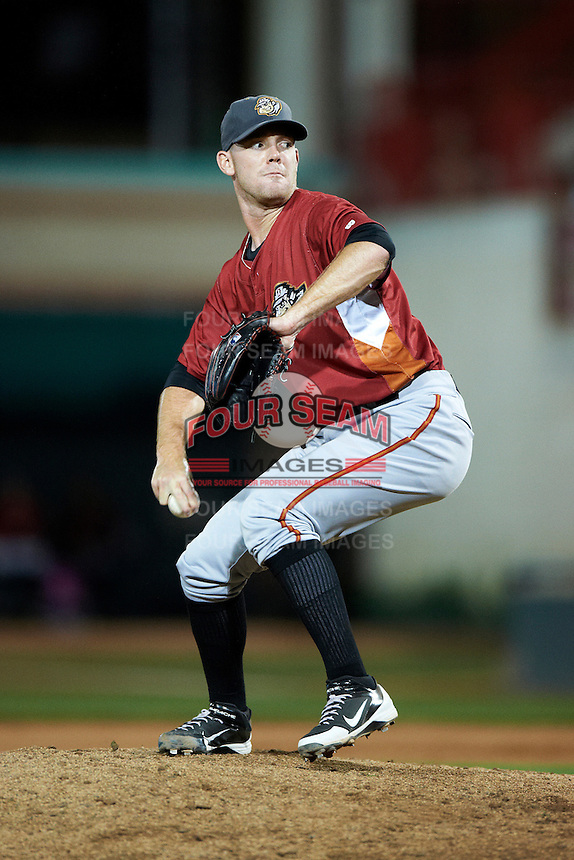 Altoona Curve pitcher Victor Black #28 during an Eastern League game against the Erie Seawolves at Jerry Uht Park on August 31, 2012 in Erie, Pennsylvania.  Altoona defeated Erie 4-3.  (Mike Janes/Four Seam Images)